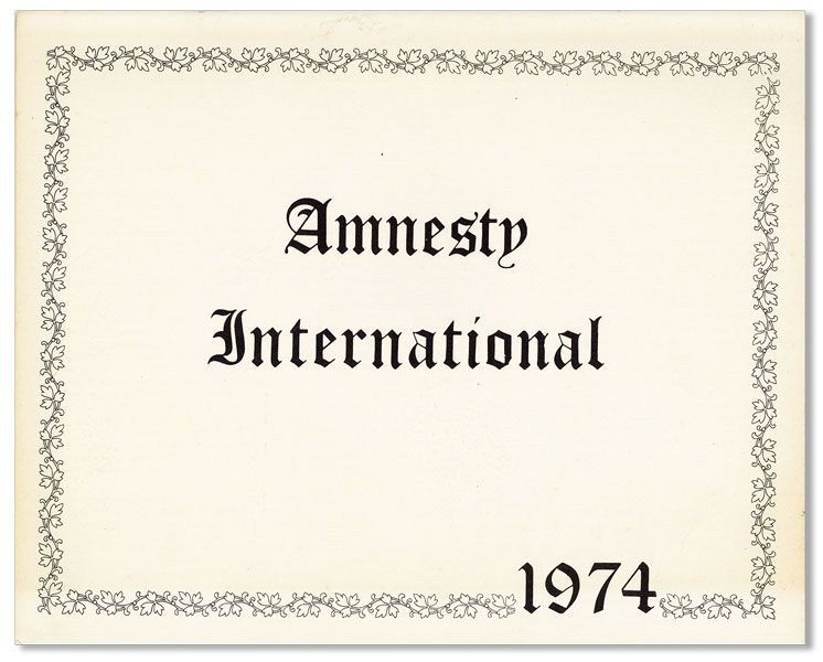 Amnesty International Calendar for 1974. AMNESTY INTERNATIONAL