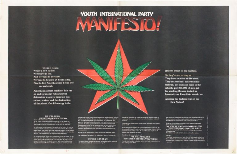 Poster: Youth International Party Manifesto! NEW LEFT, YIPPIES