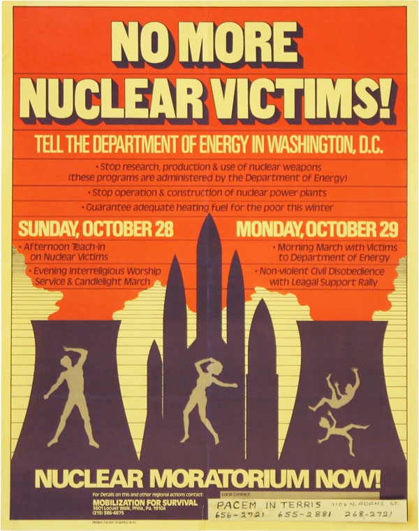 Poster: No More Nuclear Victims! Tell the Department of Energy in Washington, D.C. - Nuclear...