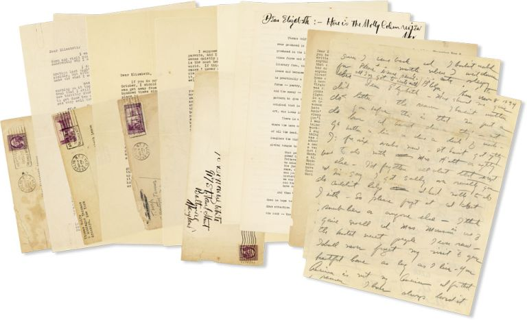 Four Typed and Autograph Letters to Elizabeth Lemmon. Together with a Typed Book Review for Of...