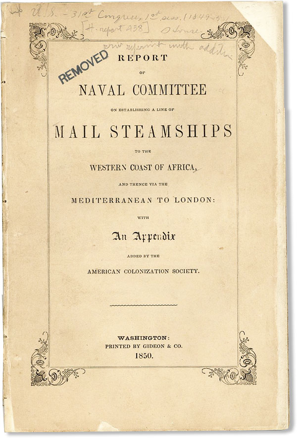 Report of the Naval Committee to the House of Representatives, August, 1850, in Favor of...