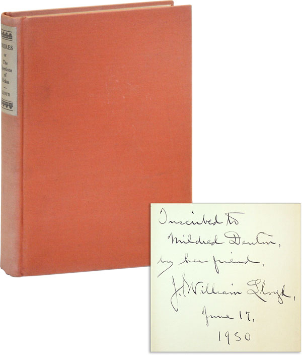 Eneres or the Questions of Reksa [Inscribed, with Original Photo]. J. William LLOYD, introd...