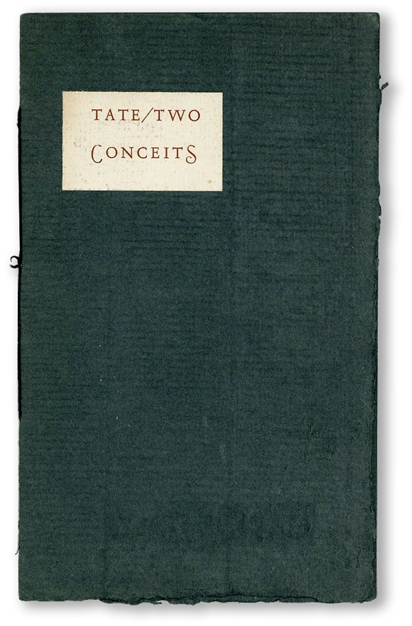 Two Conceits For the Eye to Sing, If Possible [Limited Edition]. Allen TATE