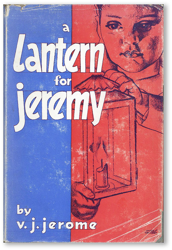 A Lantern For Jeremy: A Novel. V. J. JEROME, Hugo GELLERT, novel, cover art