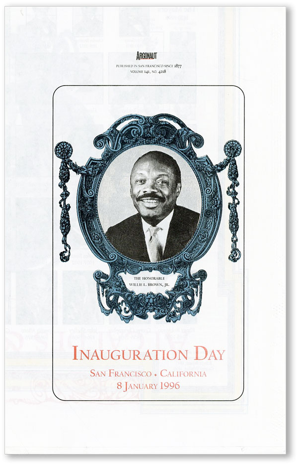 Inauguration Day, San Francisco, California, 8 January 1996 [Argonaut, Vol. 141, no. 4218]....