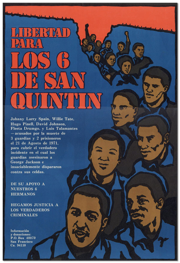 Poster] Libertad Para los 6 de San Quintin [Freedom for the San Quentin Six]. Jane NORING, artist