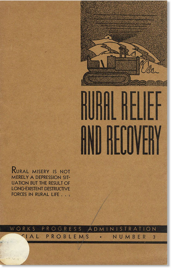 Rural Relief and Recovery. Rupert B. VANCE