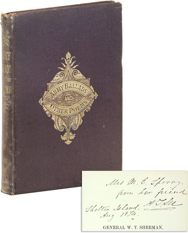 Army Ballads and Other Poems [Signed and inscribed by author]. Arthur LEE, racy
