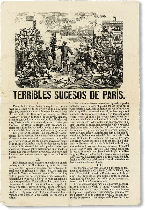 Drop title] Terribles Sucesos de Paris. PARIS COMMUNE