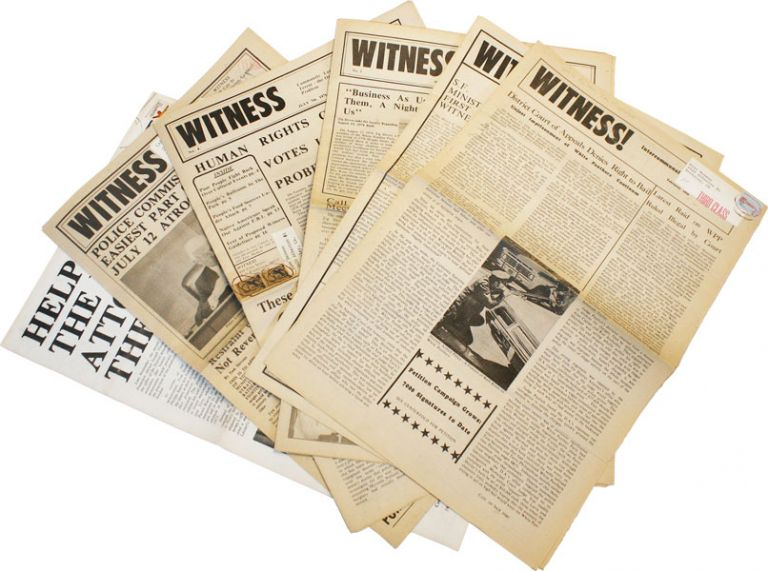Witness! - Collection of Five Issues and One Insert. NEW LEFT, WHITE PANTHER PARTY