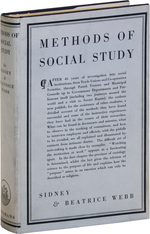 Methods of Social Study. Sidney and Beatrice WEBB