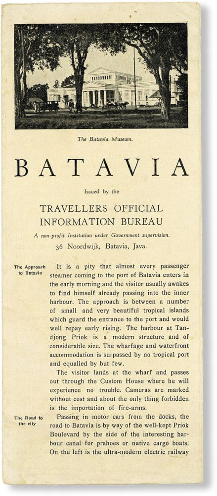 Batavia. TRAVELLERS OFFICIAL INFORMATION BUREAU