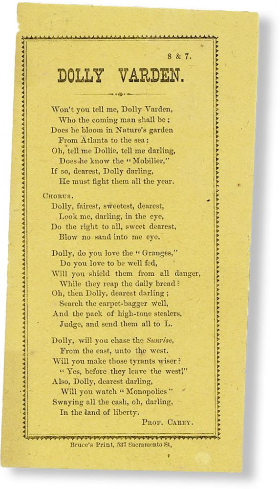 Dolly Varden. BROADSIDE BALLAD, Prof CAREY