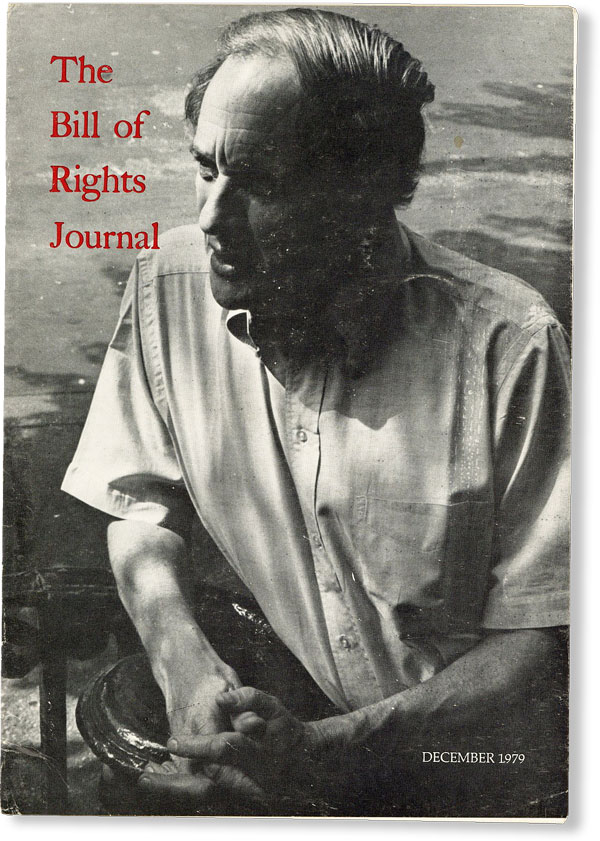 The Bill of Rights Journal, Vol. XII, December, 1979. Max GORDON, eds Howard A. Rodman