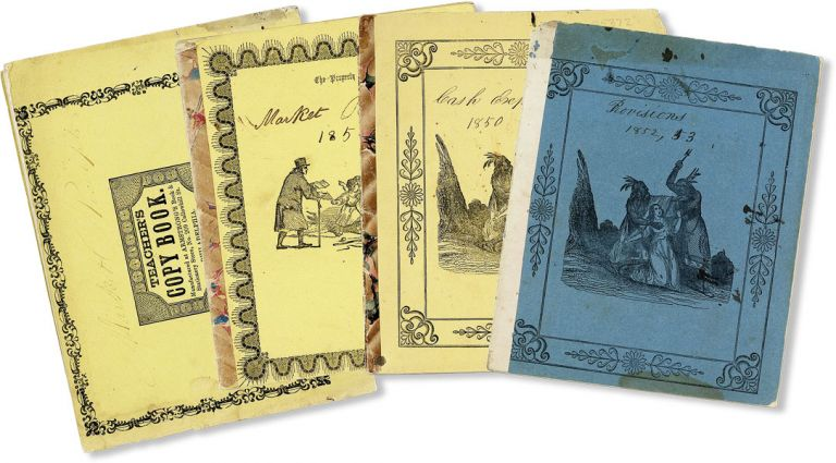 Collection of Four Gloucester, New Jersey Manuscript Farm Receipt Books, 1850-55