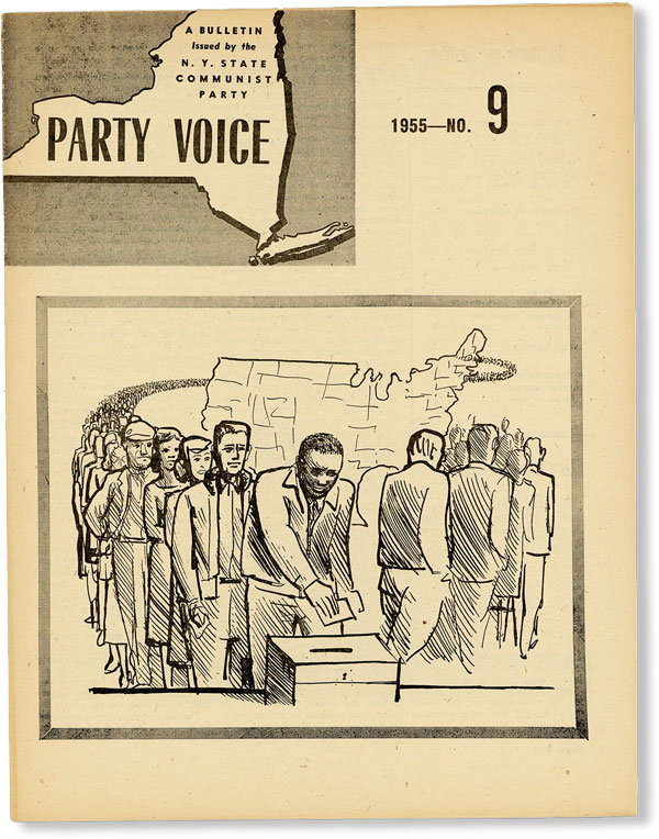Party Voice: A Bulletin Issued by the N.Y. State Communist Party, Vol. 3, No. 9, October, 1955....