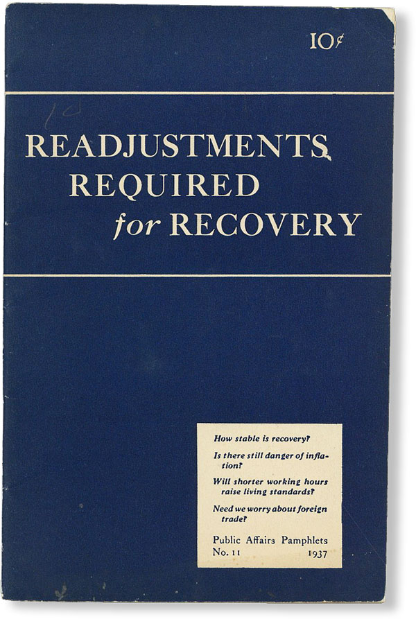 Readjustments Required for Recovery. Maxwell S. STEWART