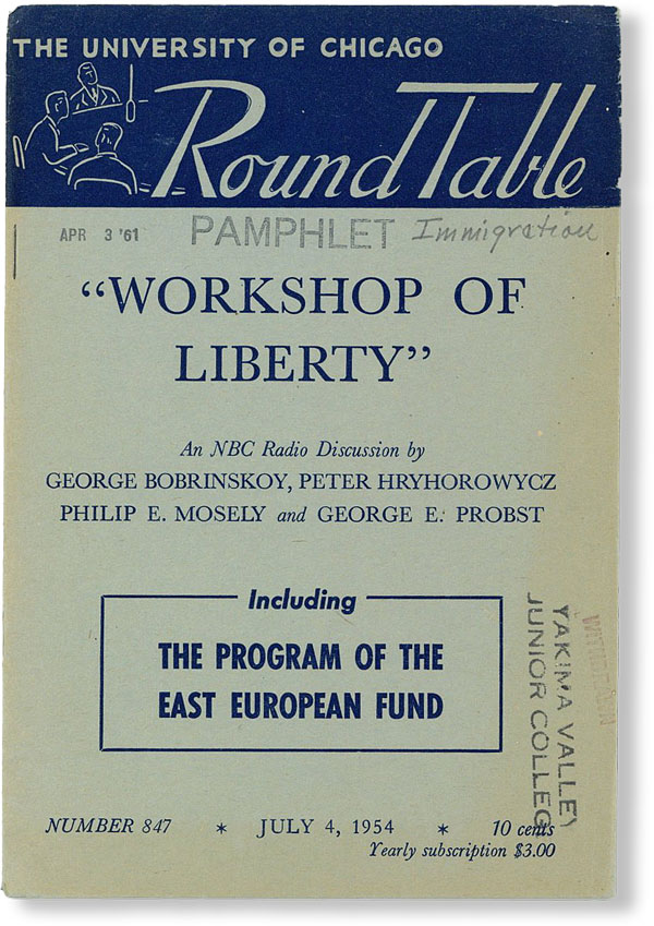 """Workshop of Liberty"" [University of Chicago Round Table, no. 847, July 4, 1954]. George BOBRINSKOY"