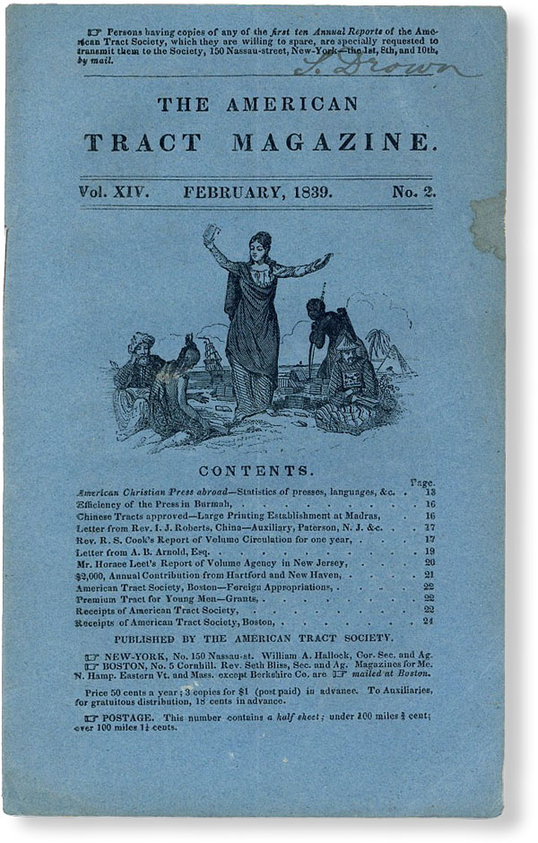 The American Tract Magazine, Vol. XIV, no. 2, February, 1839. AMERICAN TRACT SOCIETY