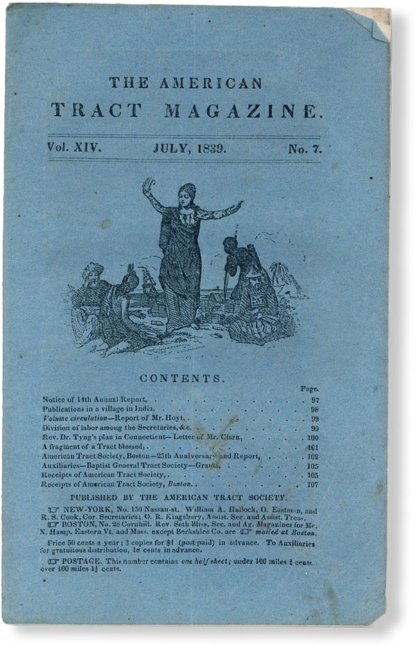 The American Tract Magazine, Vol. XIV, no. 7, July, 1839. AMERICAN TRACT SOCIETY