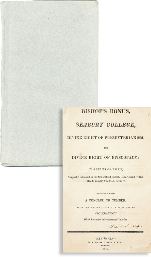 Bishop's Bonus, Seabury College, Divine Right of Presbyterianism, and Divine Right of Episcopacy:...