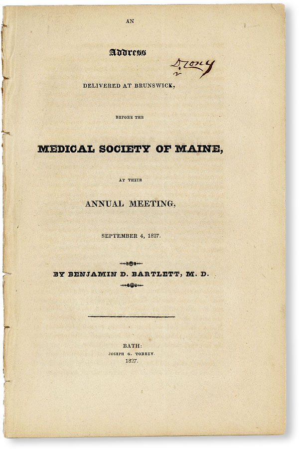 An Address Delivered at Brunswick, Before the Medical Society of Maine, at Their Annual Meeting,...