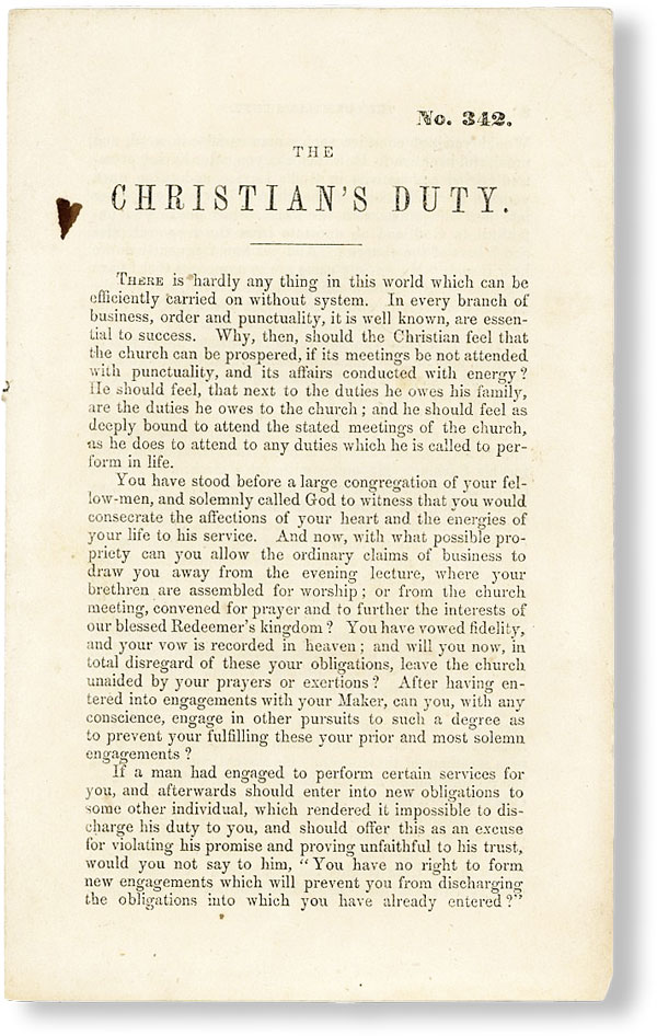 The Christian's Duty [No. 342]. AMERICAN TRACT SOCIETY