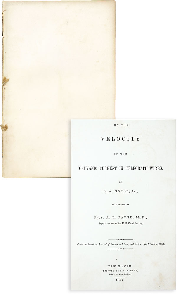 On the Velocity of the Galvanic Current in Telegraph Wires. A. GOULD, Jr, enjamin