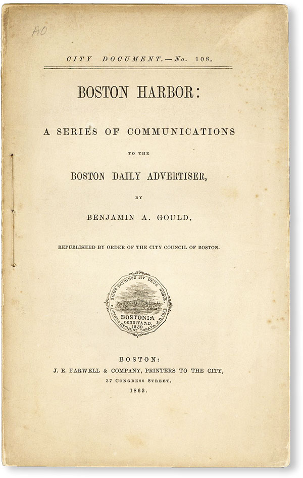 Boston Harbor: A Series of Communications to the Boston Daily Advertiser [City Document No. 108]....