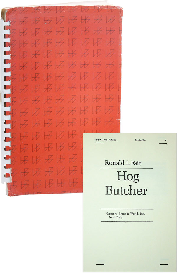Hog Butcher [Bound Galley Copy]. AFRICAN AMERICANA, Ronald L. FAIR