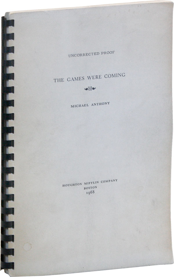 The Games Were Coming [Bound Galley Copy]. CARIBBEANA, Michael ANTHONY
