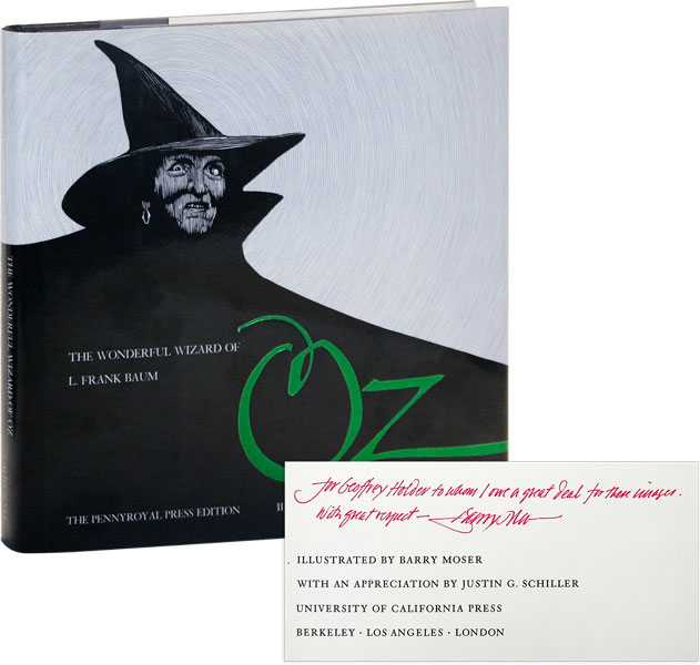The Wonderful Wizard of Oz [Inscribed to Geoffrey Holder]. L. Frank BAUM, Barry MOSER, novel,...