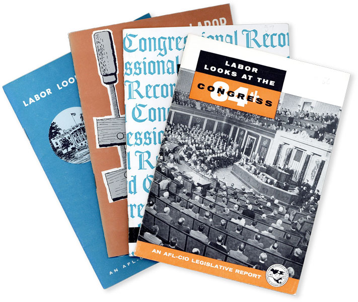 AFL-CIO Legislative Reports. Labor Looks at the 84 [&c] Congress. Thirteen Volumes. AFL-CIO,...