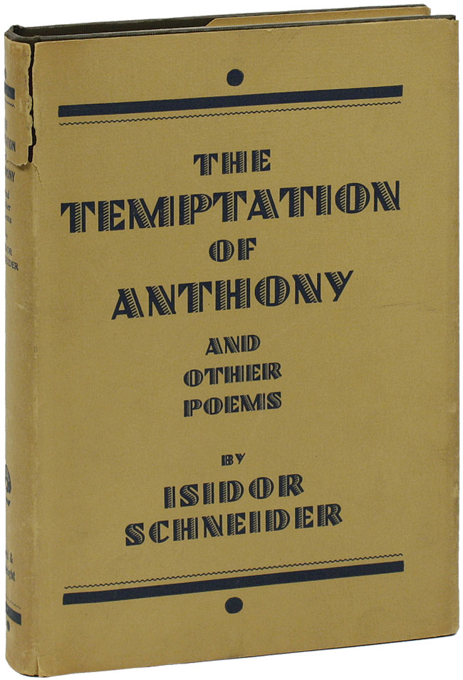 The Temptation of Anthony and Other Poems