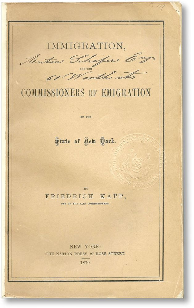 Immigration, and the Commissioners of Emigration of the State of New York