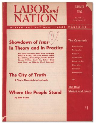 Labor and Nation Vol. VI, No. 3 (Summer 1950)