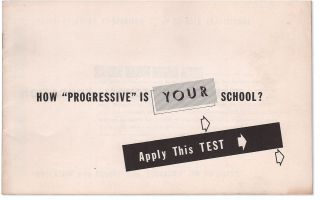 "How ""Progressive"" Is Your School? Apply This Test"