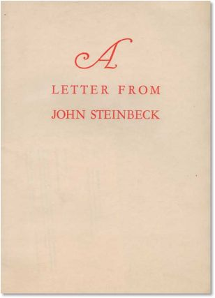A Letter From John Steinbeck