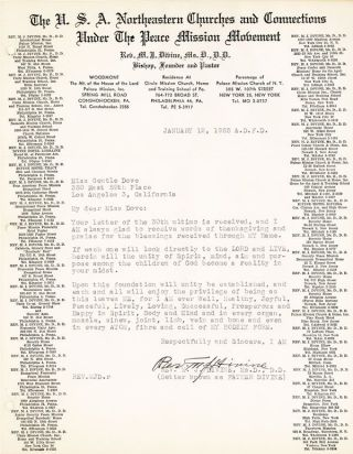 Original Color Photograph and Typed Letter, Signed. Dated January 12, 1955
