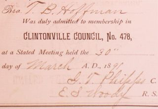 Constitution, By-Laws, and Rules of Order of Clintonville Council, No. 478, Junior Order of United American Mechanics of the State of Pennsylvania Located at Clintonville