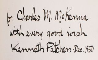 Patchen's First Will & Testament [Inscribed Copy]