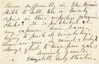 Autograph Letter, Signed. 2pp, signed, to Parker Pillsbury, Dec. 8th, 1895.