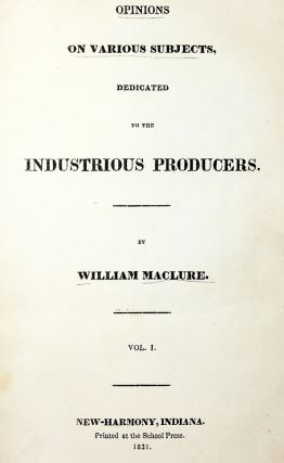 Opinions on Various Subjects, Dedicated to the Industrious Producers