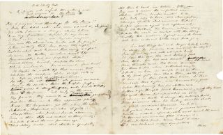 "Autograph Letter Signed to Eliza Lee [Cabot] Follen, including Manuscript Poem ""For the Liberty Bell."" 4pp, dated August 10th, 1843"