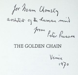 The Golden Chain. Lyrical Poems 1964-1969 [Inscribed to Noam Chomsky]