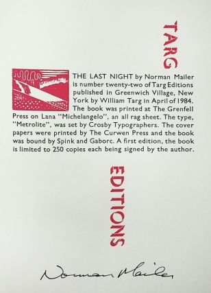 The Last Night: A Story [Limited Edition, Signed]