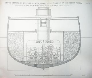 Tredgold on the Steam Engine. Marine Engines and Boilers: Exemplified in Numerous Examples of British and American Steam Vessels. With Descriptive Text by Eminent Engineers