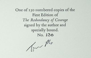 The Redundancy of Courage [Limited Edition, Signed]